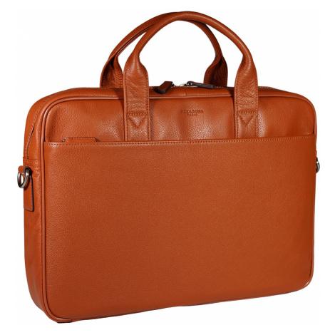 Luxusní kožená pánská taška Hexagona 462544 oranžová