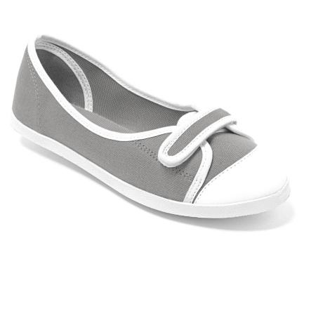 Blancheporte Plátěné balerínky šedá/bílá