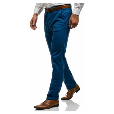 Modré pánské chino kalhoty Bolf 6191 GLO-STORY