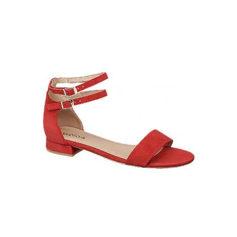 Červené kožené sandály Wojas