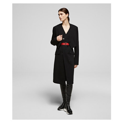 Kabát Karl Lagerfeld Transformer Trench - Černá