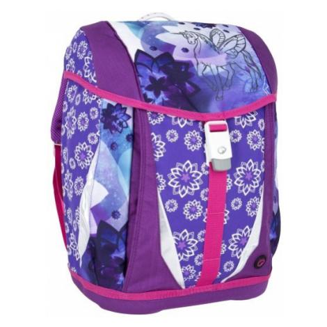 Dívčí školní batoh/aktovka pro prvňáčka Bagmaster POLO 6 A VIOLET/PINK