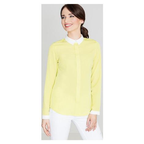 LENITIF Dámská žlutá košile K275