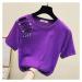 Dámské zdobené tričko s průstřihy B384 FashionEU
