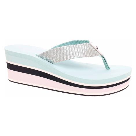 Dámské plážové pantofle Tommy Hilfiger FW0FW03864 447 aqua haze