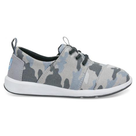 Grey Camo Printed Canvas Youth DelRey Toms