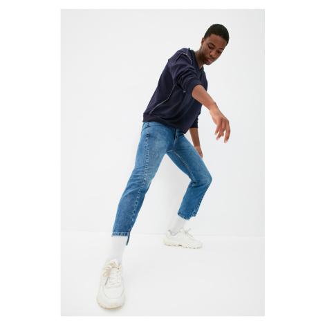 Trendyol Indigo Men's Straight Crop Jeans