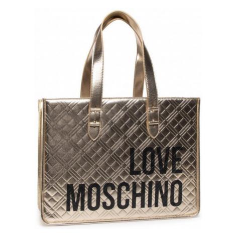 LOVE MOSCHINO LOVE MOSCHINO dámská zlatá kabelka