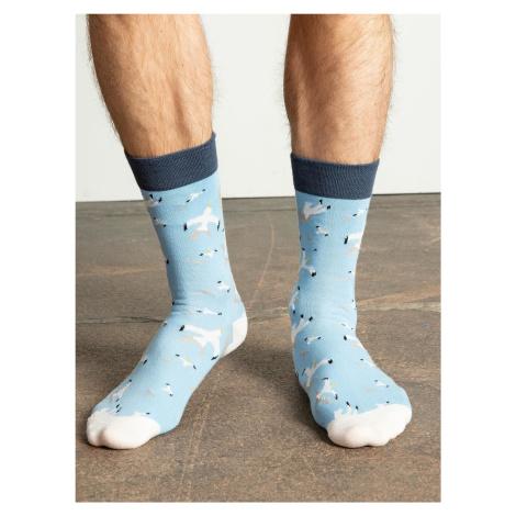 Pánské světle modré vzorované ponožky FPrice