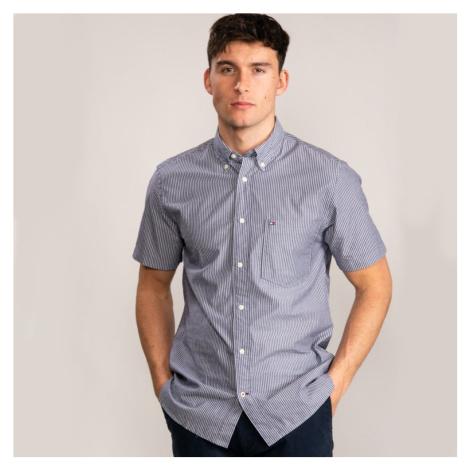 Tommy Hilfiger pánská pruhovaná košile s krátkým rukávem