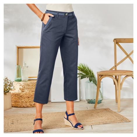 Blancheporte 3/4 macramé kalhoty modrošedá
