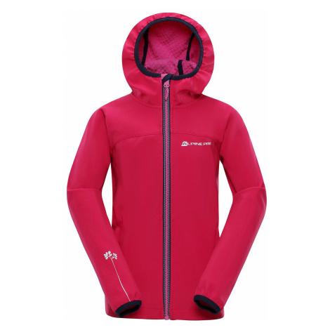 Dětská softshellová bunda Alpine Pro NOOTKO 8 - růžová