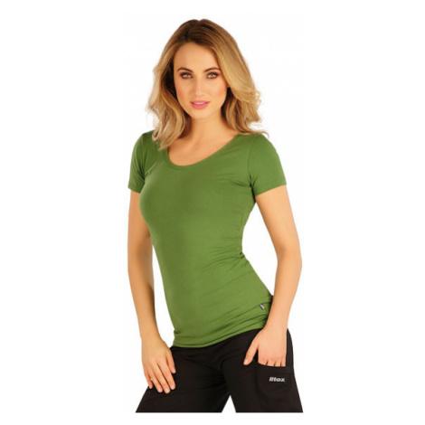 Dámské tričko s krátkým rukávem Litex 5A358 | trávově zelená