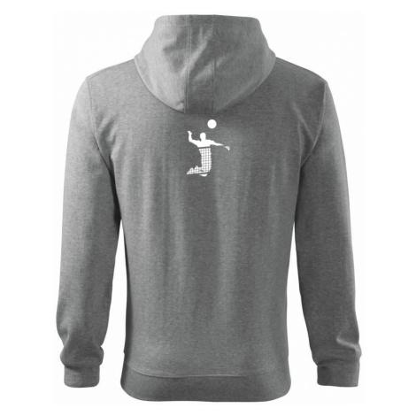 Volejbalista síť - Mikina s kapucí na zip trendy zipper