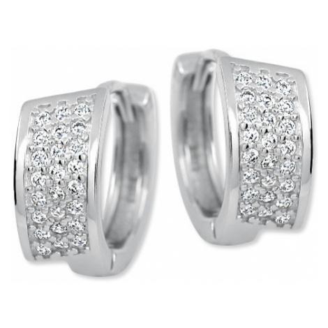 Brilio Silver Luxusní stříbrné náušnice 158 04