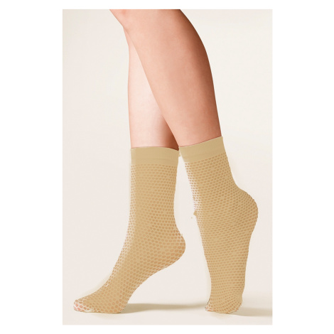 Dámské ponožky 689 Viva beige Univerzální Gabriella
