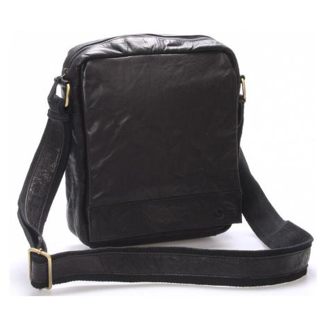 Luxusní velká kožená crossbody taška černá - Sendi Design Diverze
