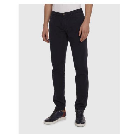 Kalhoty La Martina Man Pant Cotton Linen - Modrá