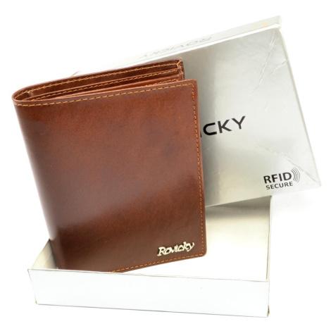 Kožená pánská peněženka hnědá Rovicky