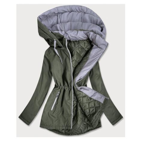 Dámská bunda v barvě s kapucí (B2660-11032)