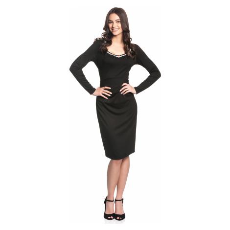 Retro jednoduché černé šaty Vive Maria Be My Maid