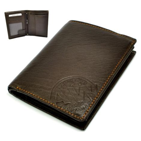 Pánská tmavě hnědá peněženka kožená Wild