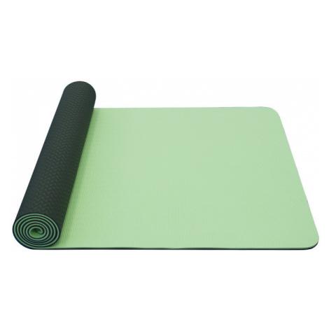 YOGA MAT YATE DVOUVRSTVÁ TPE- protiskluzový povrch, zelená/šedá 1730x610x6 mm