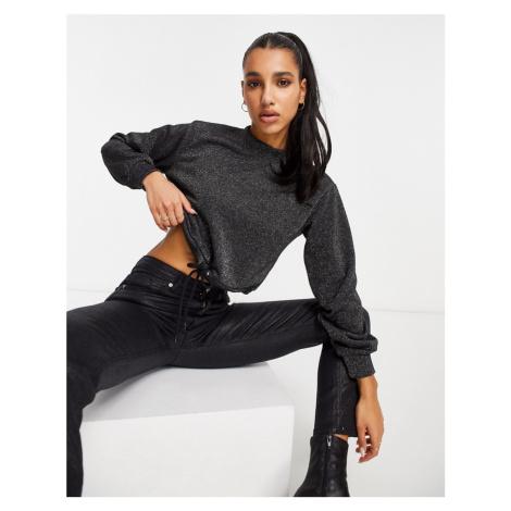 NA-KD glitter sweater in black