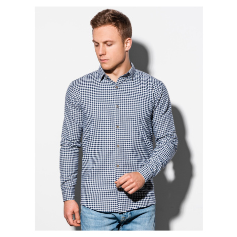 Ombre Clothing Men's shirt with long sleeves K563