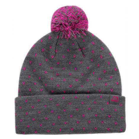 Unisex čepice Alpine Pro JOKINE - šedo-růžová
