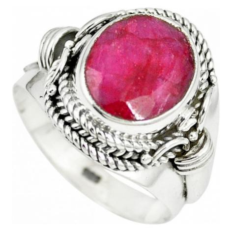 AutorskeSperky.com - Stříbrný prsten s rubínem - S2247