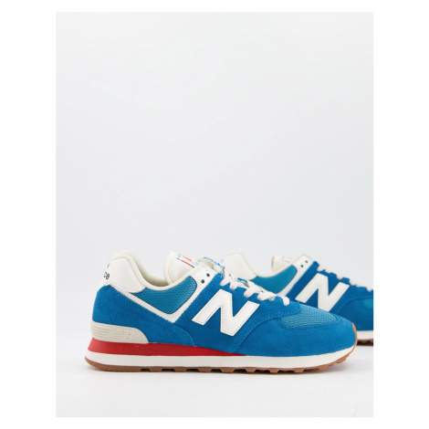 New Balance 574 trainers in blue