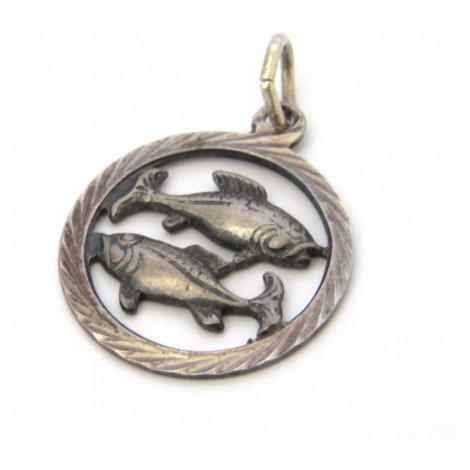 AutorskeSperky.com - Stříbrný přívěsek znamení ryby - S1337