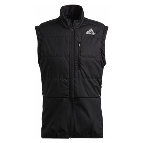 Běžecká vesta adidas Own The Run 3-Stripes Černá / Bílá