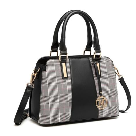 Černá kostkovaná dámská kabelka do ruky i přes rameno Zurie Lulu Bags