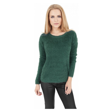 Ladies Nylon Feather Crew - forest Urban Classics