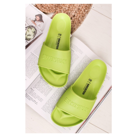 Žluto-zelené nízké pantofle Barbados EVA Birkenstock