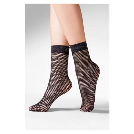 Dámské síťované ponožky Viva béžová