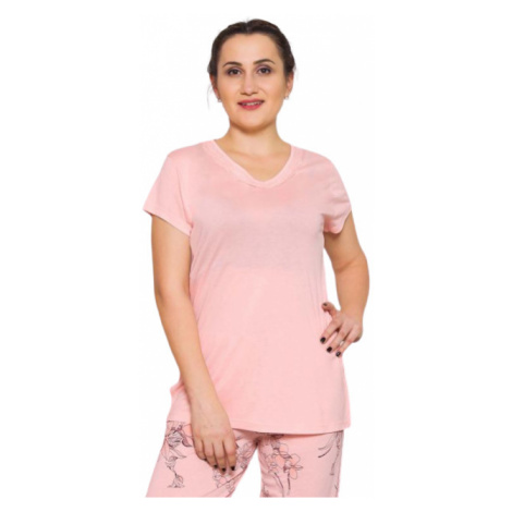 Dámské pyžamo kapri Vienetta Secret Adele | meruňková
