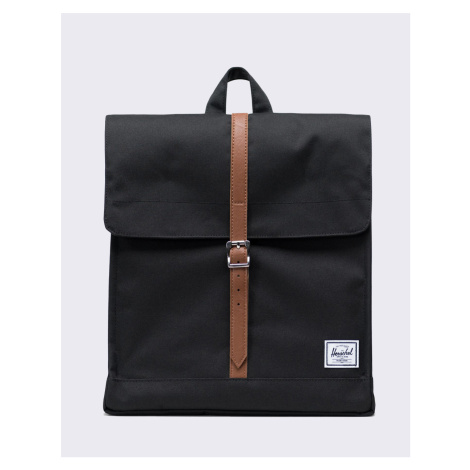 Herschel Supply City Mid-Volume Black/Tan Synthetic Leather Malé (do 20 litrů)