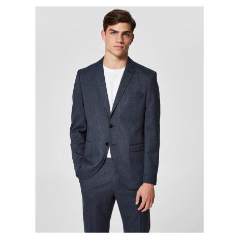 Tmavě modré oblekové sako Selected Homme-Mylologan