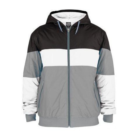 Urban Classics Kids Tricolor Nylon Jacket Grey Black White