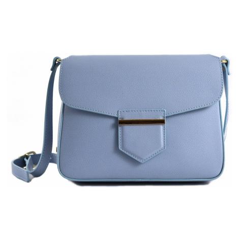 BRIGHT Dámská kožená kabelka Světle modrá, 25 x 7 x 19 (BR19-ELJ4045-11PLM)
