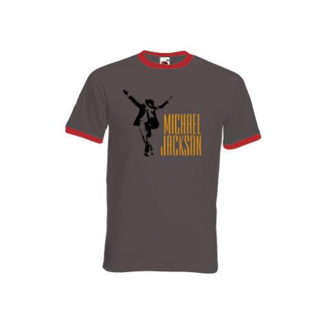 Pánské tričko s kontrastními lemy Michael Jackson