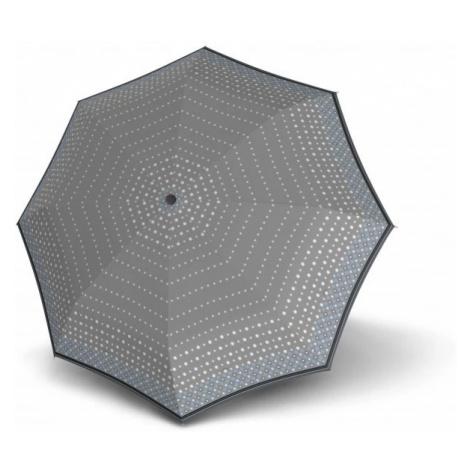 Šedomodrý puntíkovaný automatický skládací dámský deštník Abnaki Doppler