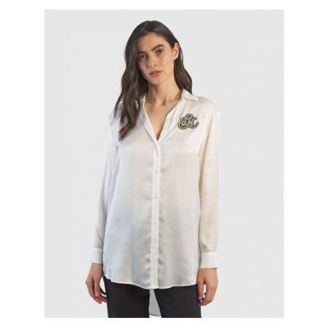 Košile La Martina Woman Viscose Satin Shirt L/S - Bílá