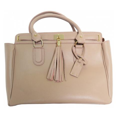 Pudrová kabelka s třásněmi Mia Tomazzi
