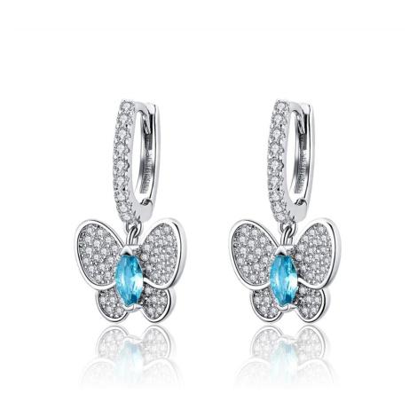 Linda's Jewelry Stříbrné náušnice Kruhy Butterfly Effect IN102