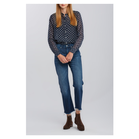 DŽÍNY GANT D1. CROPPED AUTHENTIC JEANS