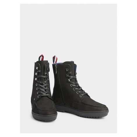 Tommy Hilfiger pánské černé kožené boty Mercedes